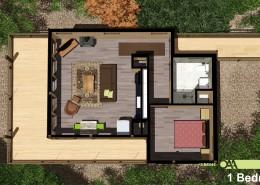 Grand Vue Park 1 Bedroom Cabin