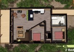 Grand Vue Park 2 Bedroom Cabin