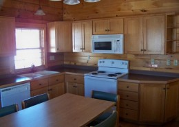 Deluxe Cabin Kitchen