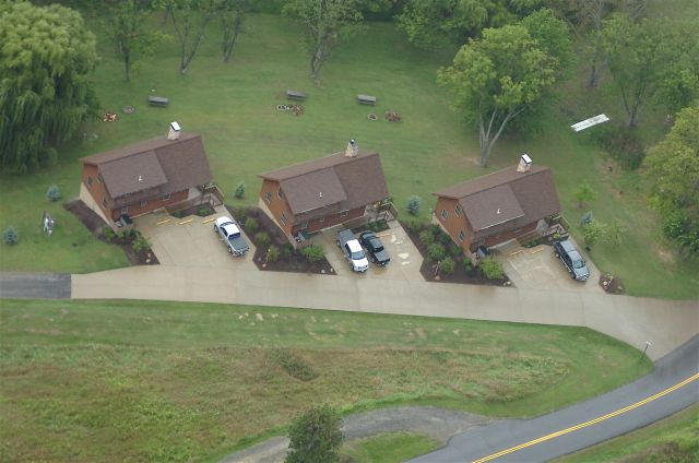 Aerial View Deluxe Cabins