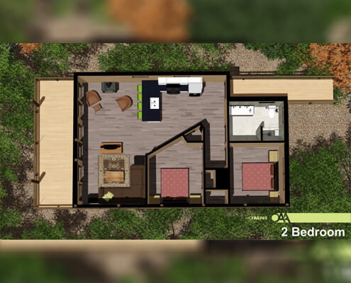 Grand Vue Park Two Bedroom Cabin