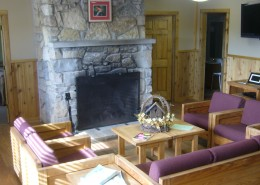 Traditional Cabin Living Area