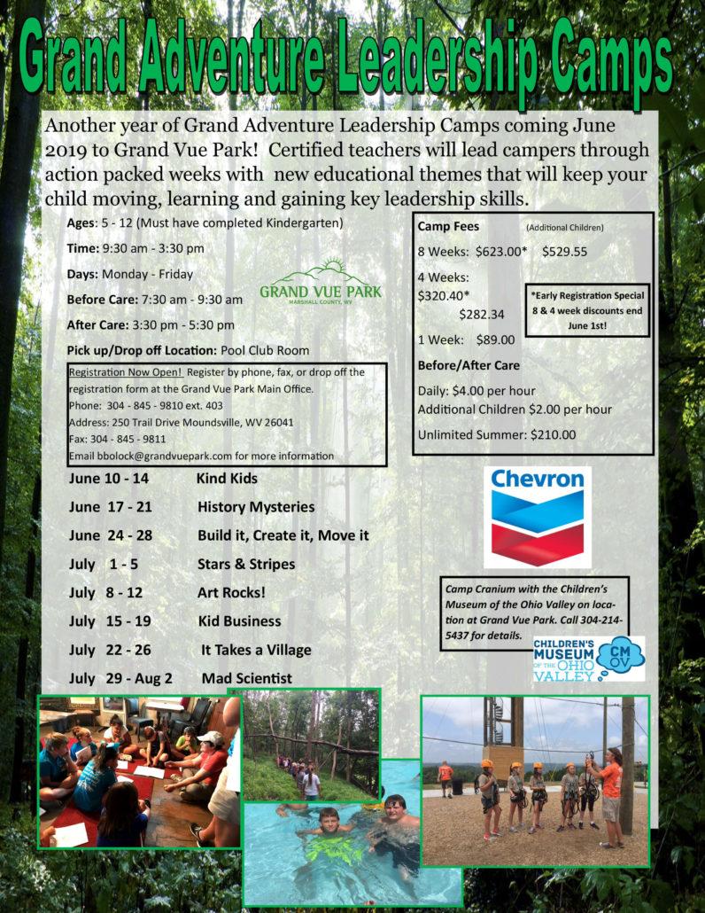 Grand Adventure Leadership Camp Flyer