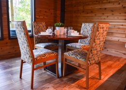 Breakfast table with four chairs grand vue park