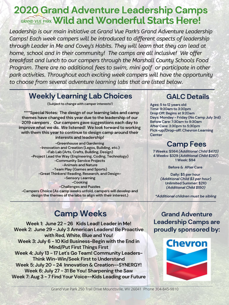 2020 Grand Adventure Leadership Camps